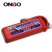ONBO 80C 6S 22.2V 2200mAh lipo