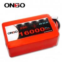 ONBO 16000mAh 22.2V 25C 6S2P Lipo Battery Pack