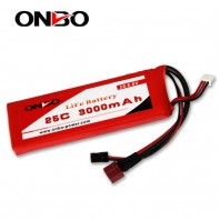 ONBO 25C 3000mAh 2S LiFePO4 battery