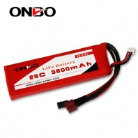 ONBO 25C 3800mAh 2S LiFePO4 battery