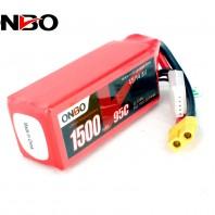 ONBO 1500mAh 4S 14.8V 95C Lipo Battery