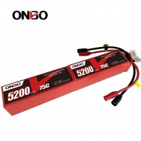 ONBO 75C 12S 44.4V 5200mAh Lipo Battery