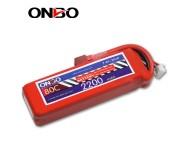 ONBO 80C 2S 7.4V 2200mAh lipo