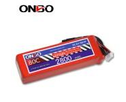 ONBO 80C 6S 22.2V 2800mAh lipo