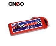 ONBO 80C 3S 11.1V 3300mAh lipo