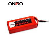 ONBO 8000mAh 22.2V 25C 6S1P Lipo Battery Pack