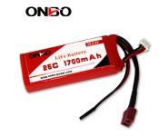 ONBO 25C 1700mAh 2S LiFePO4 battery