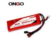ONBO 25C 3000mAh 2S LiFePO4 battery
