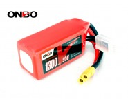 ONBO 1300mAh 4S 14.8V 95C Lipo Battery