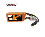 ONBO Silicon Graphene1500mAh 4S 14.8V 95C Lipo Battery
