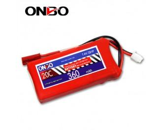 20C 2S 360mAh lipo,360mah small lipo,ONBO 2S 20C lipo,3.7V lipo battery