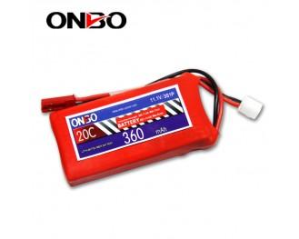 20C 3S 360mAh lipo,360mah small lipo, ONBO 3S 20C lipo,3.7V lipo battery