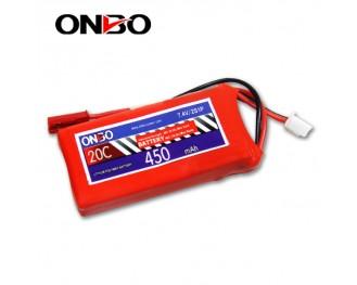 20C 2S 450mAh lipo,450mah small lipo, ONBO 2S 20C lipo,3.7V lipo battery