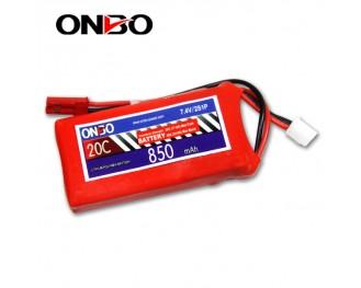 20C 2S 850mAh lipo,850mah small lipo, ONBO 2S 20C lipo,3.7V lipo battery