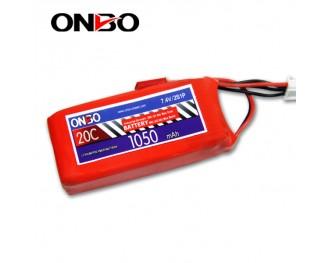 20C 2S 1050mAh lipo,1050mah lipo, ONBO 2S 20C lipo,3.7V lipo battery