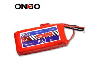 20C 3S 1050mAh lipo,1050mah lipo, ONBO 3S 20C lipo,3.7V lipo battery