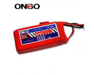 20C 2S 1350mAh lipo,1350mah lipo, ONBO 2S 20C lipo,3.7V lipo battery