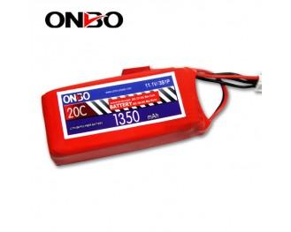 20C 3S 1350mAh lipo,1350mah lipo, ONBO 3S 20C lipo,3.7V lipo battery
