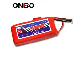 20C 2S 1550mAh lipo,1550mah lipo, ONBO 2S 20C lipo,3.7V lipo battery