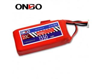 20C 3S 1550mAh lipo,1550mah lipo, ONBO 3S 20C lipo,3.7V lipo battery