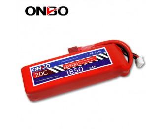 20C 2S 1850mAh lipo,1850mah lipo, ONBO 2S 20C lipo,3.7V lipo battery