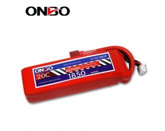 20C 3S 1850mAh lipo,1850mah lipo, ONBO 3S 20C lipo,3.7V lipo battery