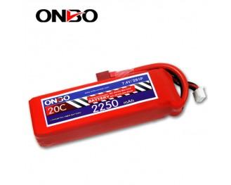 20C 2S 2250mAh lipo,2250mah lipo, ONBO 2S 20C lipo,3.7V lipo battery