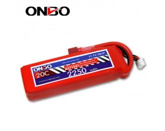 20C 3S 2250mAh lipo,2250mah lipo, ONBO 3S 20C lipo,3.7V lipo battery
