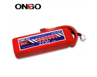 20C 4S 2250mAh lipo,2250mah lipo, ONBO 4S 20C lipo,3.7V lipo battery