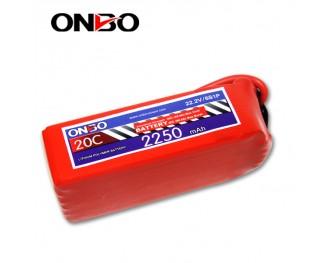 20C 6S 2250mAh lipo,2250mah lipo, ONBO 6S 20C lipo,3.7V lipo battery
