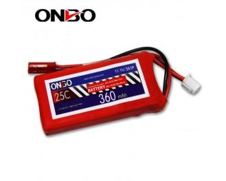 25C 3S 360mAh lipo,360mah small lipo, ONBO 3S 25C lipo,11.1V lipo battery