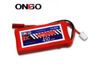 25C 2S 450mAh lipo,450mah small lipo, ONBO 2S 25C lipo,3.7V lipo battery