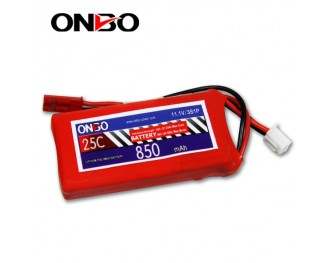 25C 3S 850mAh lipo,850mah small lipo, ONBO 3S 25C lipo,3.7V lipo battery