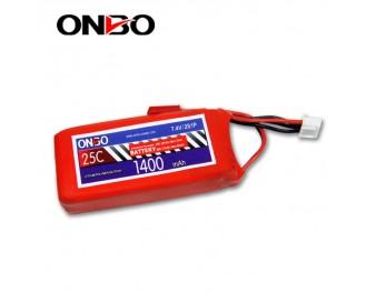 25C 2S 1400mAh lipo,1400mah lipo, ONBO 2S 25C lipo,3.7V lipo battery