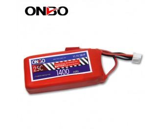 25C 3S 1400mAh lipo,1400mah lipo, ONBO 3S 25C lipo,3.7V lipo battery