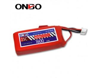 25C 3S 1600mAh lipo,1600mah lipo, ONBO 3S 25C lipo,3.7V lipo battery
