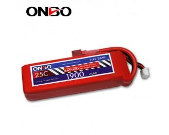 25C 2S 1900mAh lipo,1900mah lipo, ONBO 2S 25C lipo,3.7V lipo battery