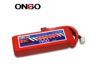 25C 3S 1900mAh lipo,1900mah lipo, ONBO 3S 25C lipo,3.7V lipo battery