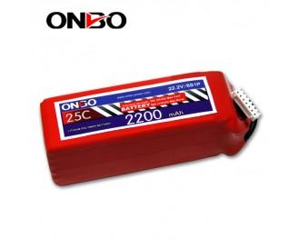 25C 6S 2200mAh lipo,2200mah lipo, ONBO 6S 25C lipo,3.7V lipo battery