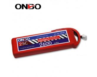 5C 3S 2600mAh lipo,2600mah lipo, ONBO 3S 25C lipo,3.7V lipo battery