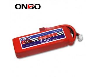 25C 4S 2200mAh lipo,2200mah lipo, ONBO 4S 25C lipo,3.7V lipo battery
