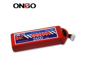 25C 5S 2600mAh lipo,2600mah lipo, ONBO 5S 25C lipo,3.7V lipo battery