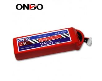 25C 4S 2600mAh lipo,2600mah lipo, ONBO 4S 25C lipo,3.7V lipo battery