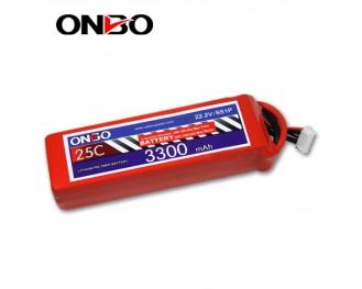 25C 6S 3300mAh lipo,3300mah lipo, ONBO 6S 25C lipo,3.7V lipo battery