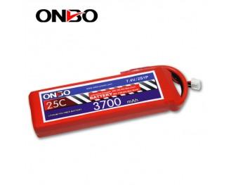 25C 2S 3700mAh lipo,3700mah lipo, ONBO 2S 25C lipo,3.7V lipo battery