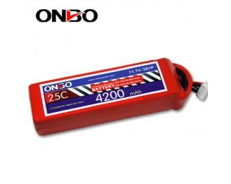 25C 3S 4200mAh lipo,4200mah lipo, ONBO 3S 25C lipo,3.7V lipo battery