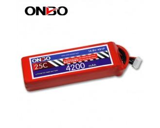 25C 4S 4200mAh lipo,4200mah lipo, ONBO 4S 25C lipo,3.7V lipo battery