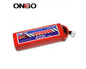 25C 5S 4200mAh lipo,4200mah lipo, ONBO 5S 25C lipo,3.7V lipo battery