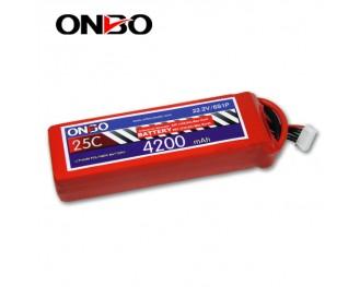 25C 6S 4200mAh lipo,4200mah lipo, ONBO 6S 25C lipo,3.7V lipo battery