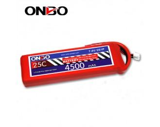 25C 2S 4500mAh lipo,4500mah lipo, ONBO 2S 25C lipo,3.7V lipo battery